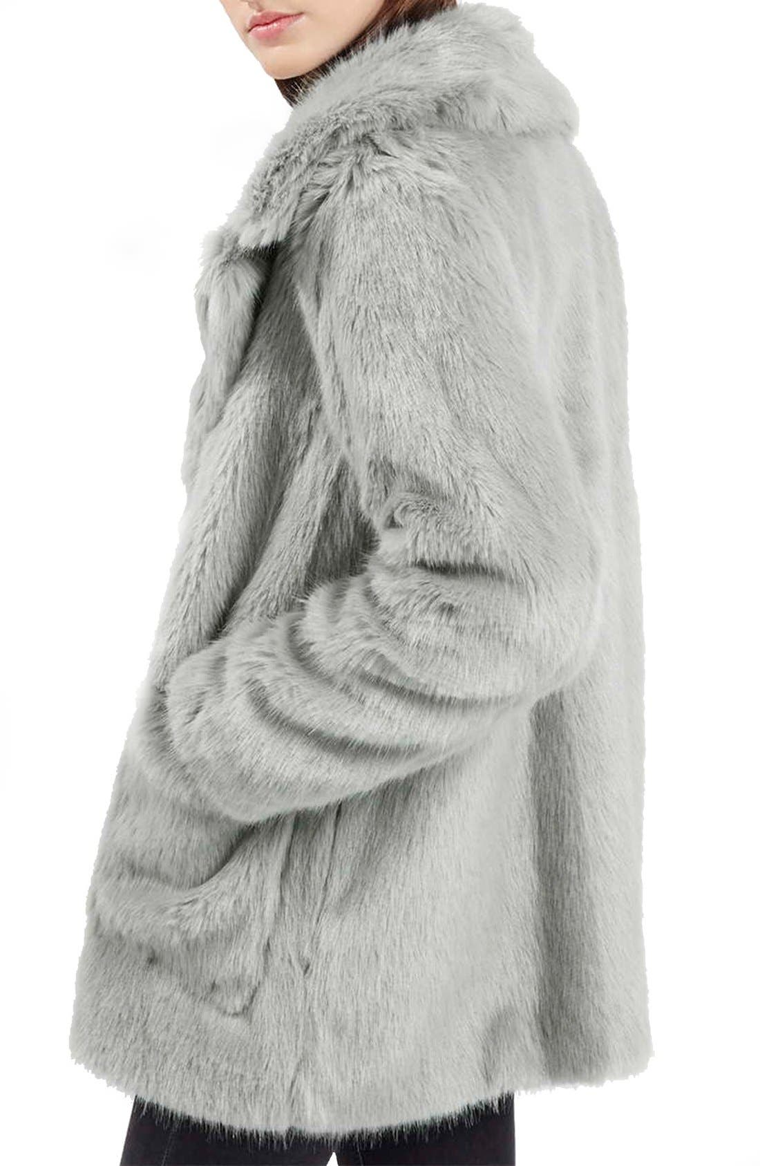 Alternate Image 3  - Topshop 'Claire' Faux Fur Coat