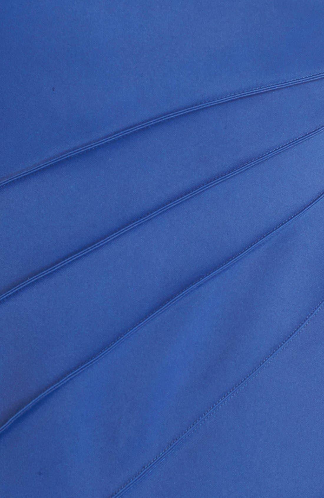 Alternate Image 5  - Halston Heritage Asymmetrical Satin & Voile A-Line Gown