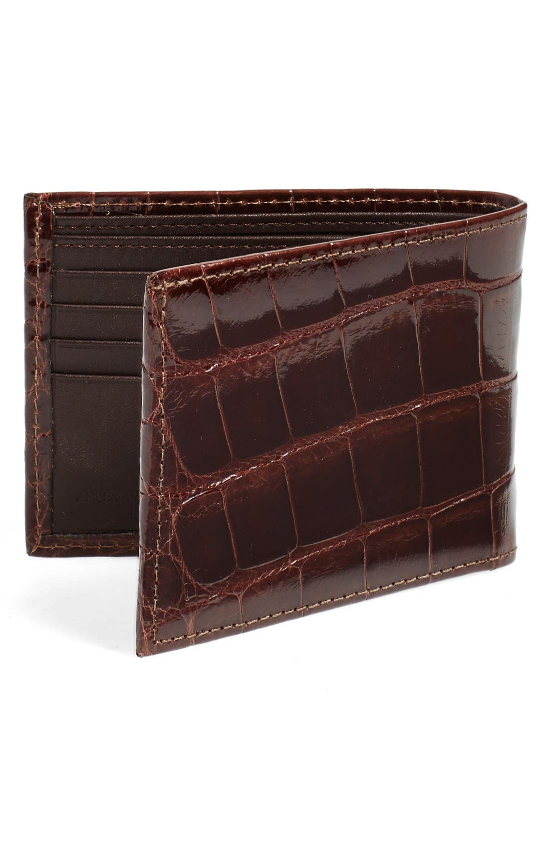 Alternate Image 4  - Torino Belts Genuine Alligator Wallet
