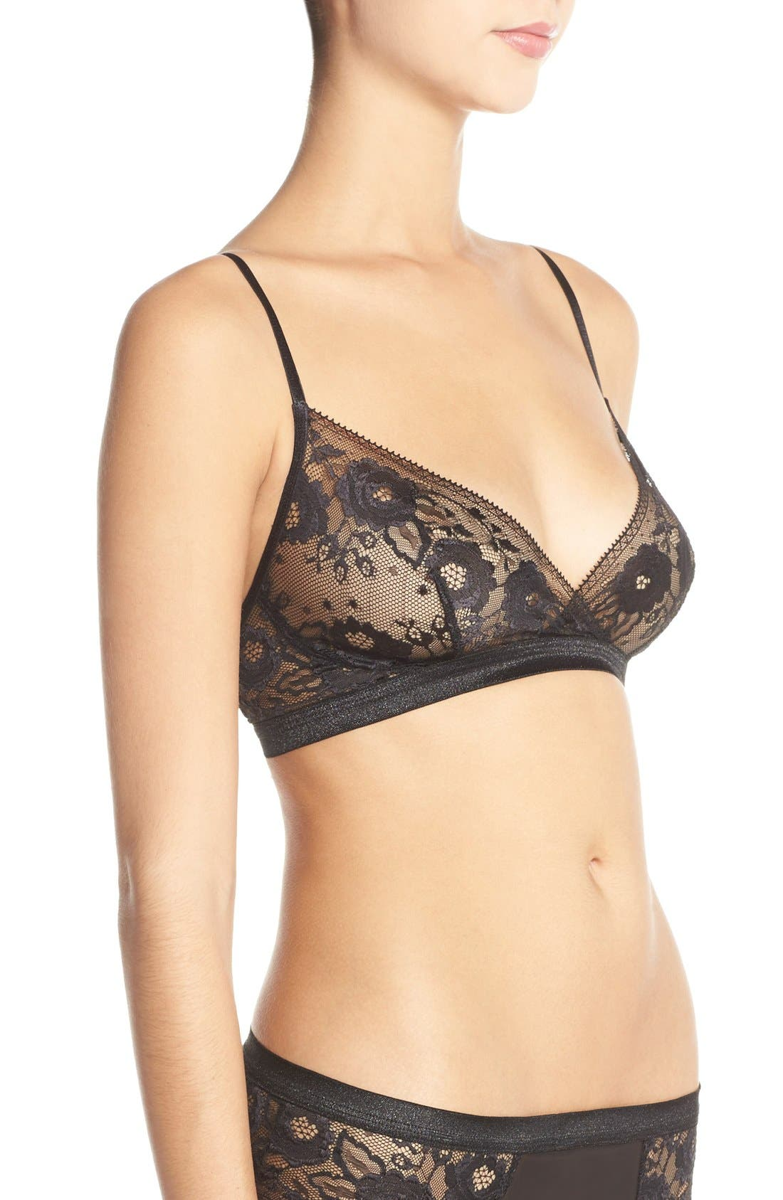 Alternate Image 4  - Hanky Panky 'High Shine' Lace Bralette