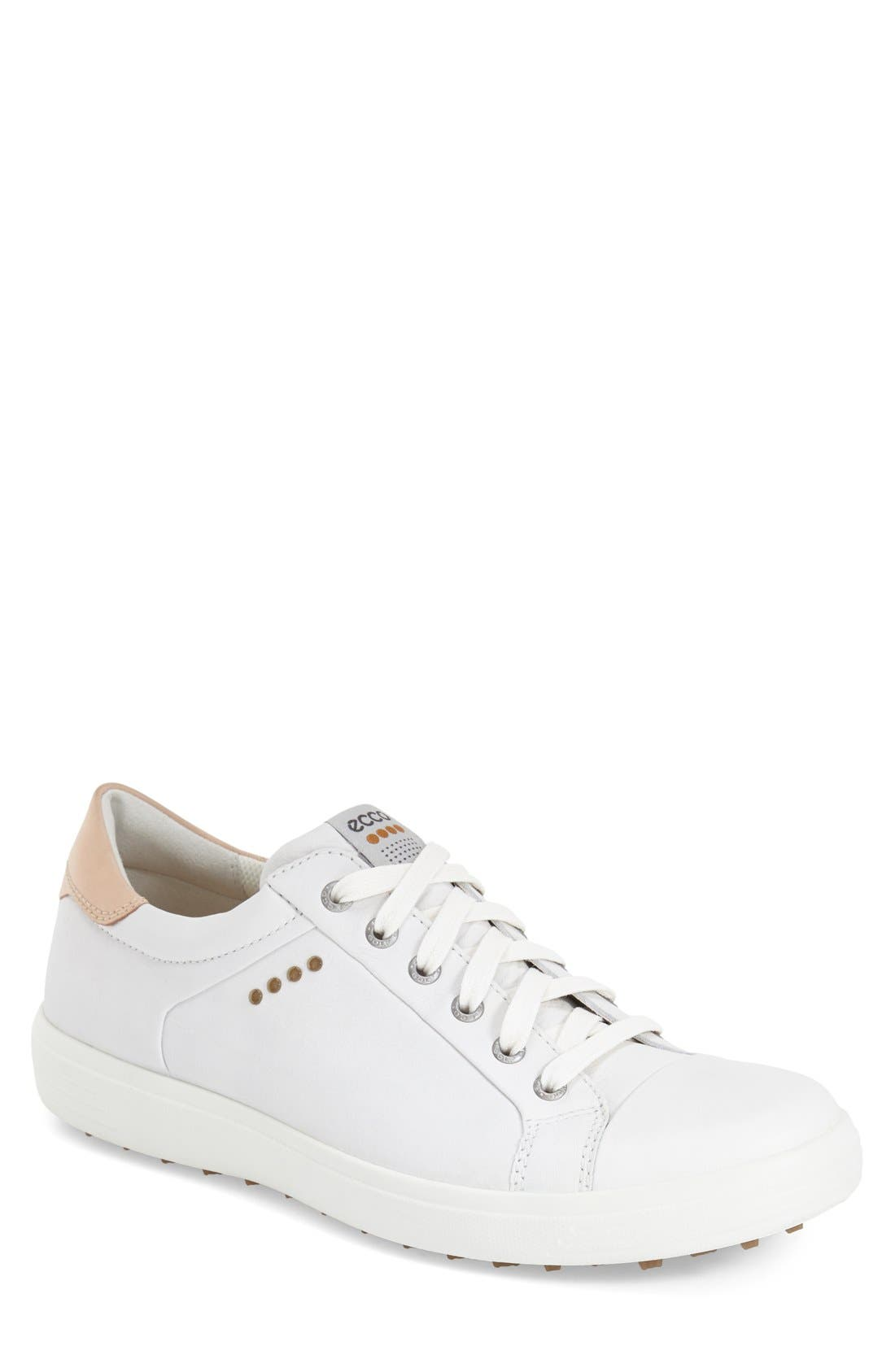 'Casual Hybrid' Golf Shoe,                         Main,                         color, White