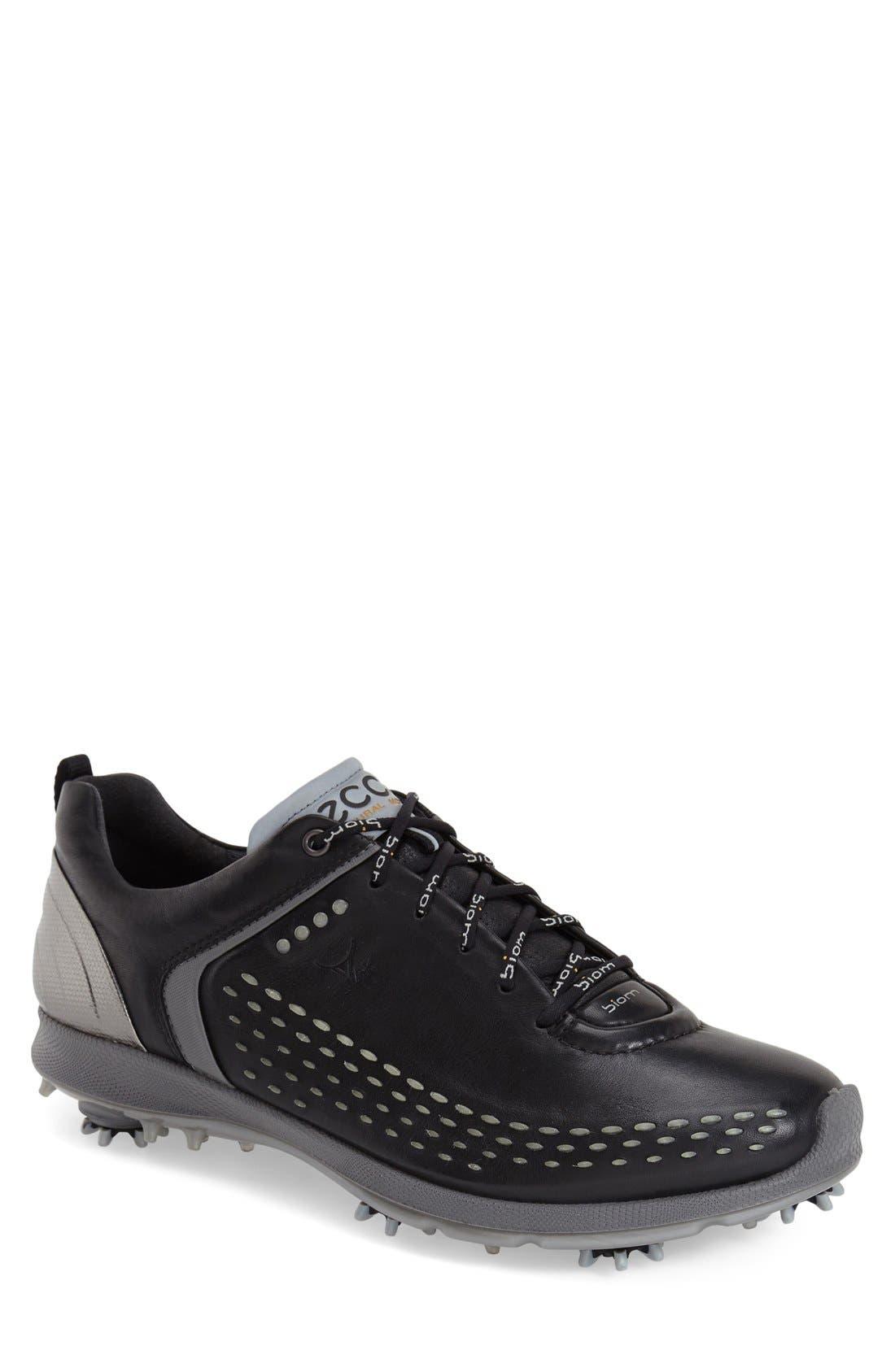 BIOM Hydromax Waterproof Golf Shoe,                             Main thumbnail 1, color,                             Black/ Transparent