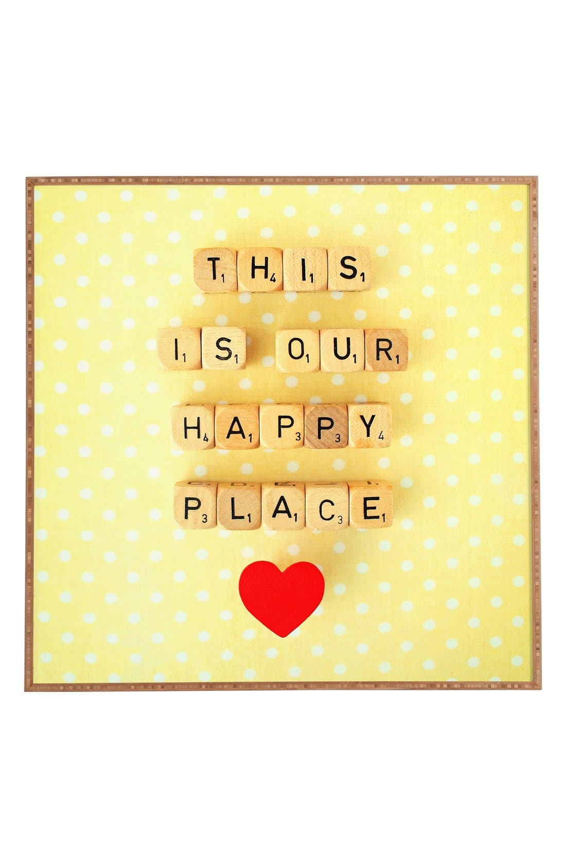 Alternate Image 1 Selected - DENY Designs 'Our Happy Place' Framed Wall Art