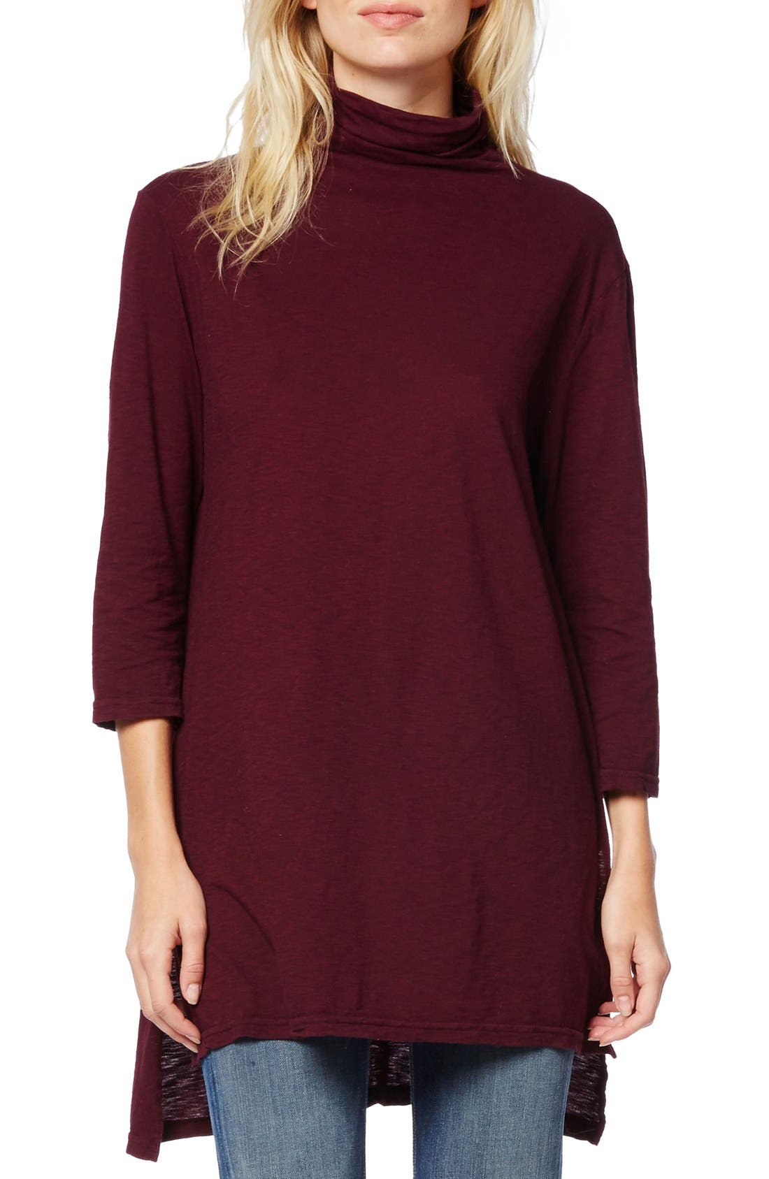 Alternate Image 1 Selected - Michael Stars Mock Neck Supima® Cotton Tunic