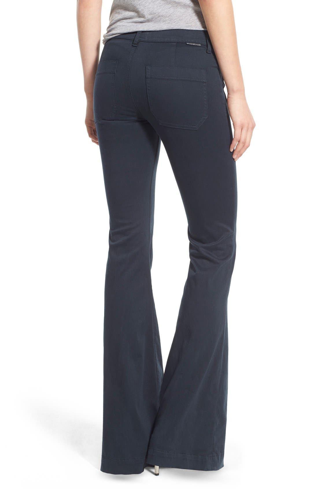 'Taylor' Flare Jeans,                             Alternate thumbnail 2, color,                             Midnight