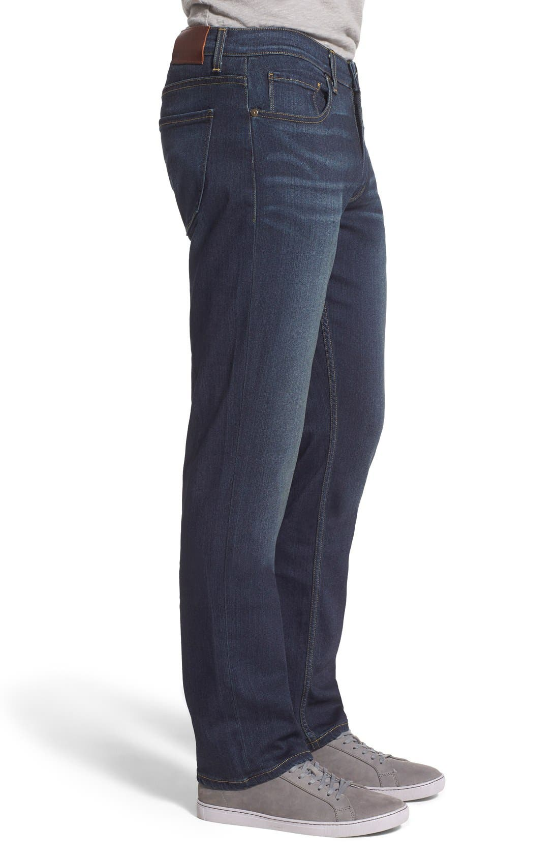 'Normandie' Straight Leg Jeans,                             Alternate thumbnail 3, color,                             Rigby
