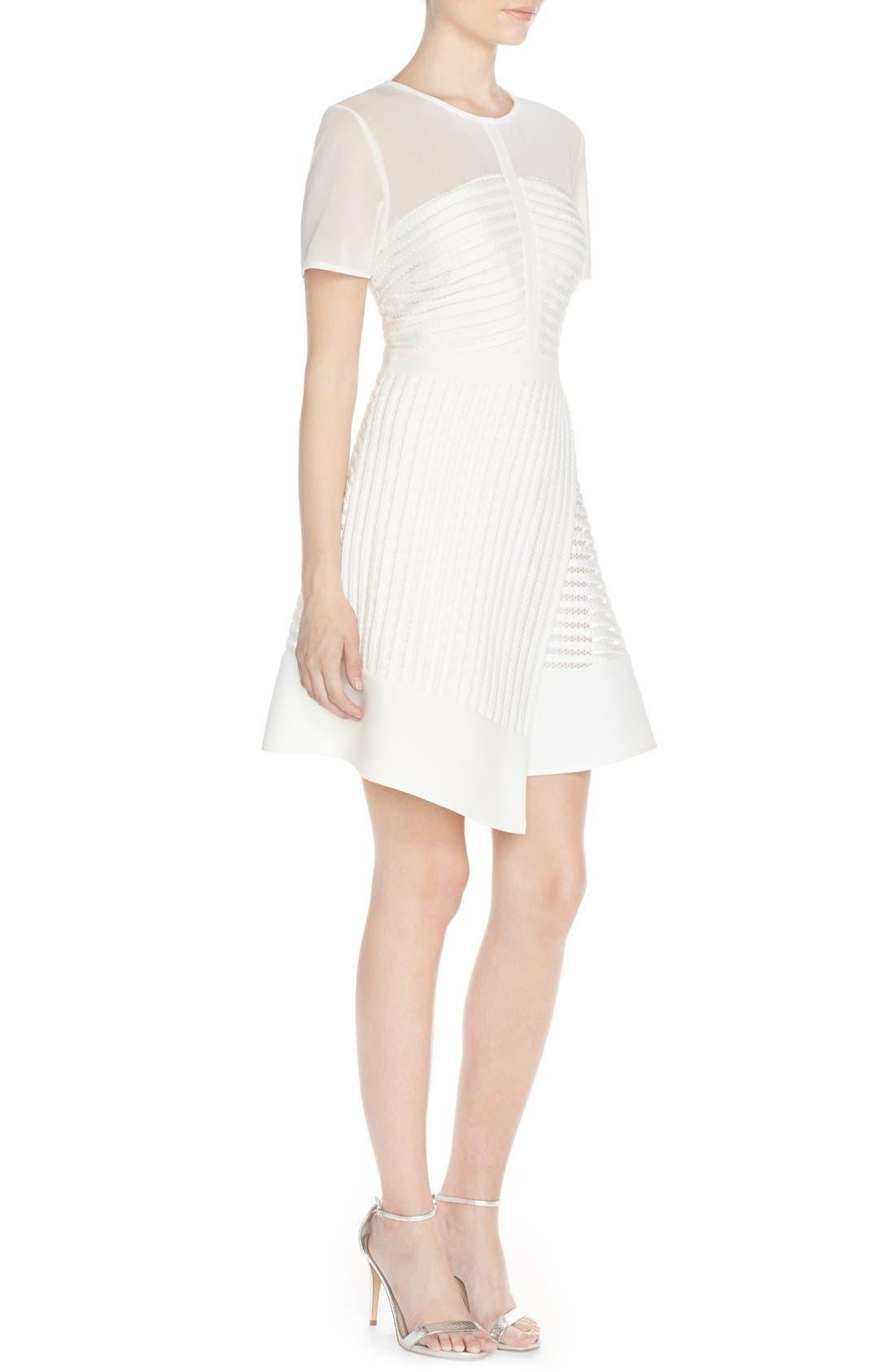 Alternate Image 5  - Adelyn Rae Mixed Media Fit & Flare Dress