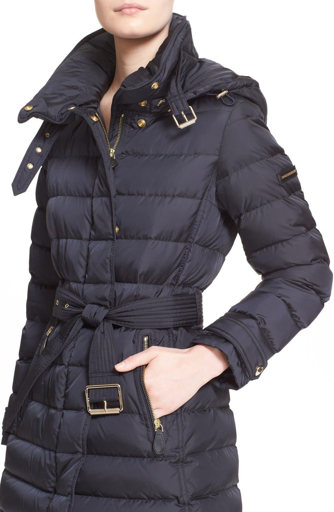 Alternate Image 4  - Burberry Brit 'Winterleigh' Belted Down Coat