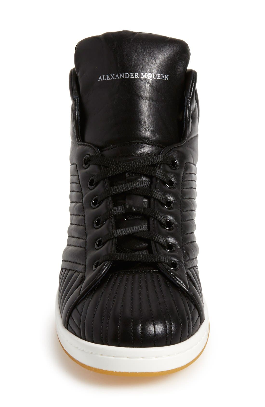 Alternate Image 3  - Alexander McQueen Quilted High Top Sneaker (Men)