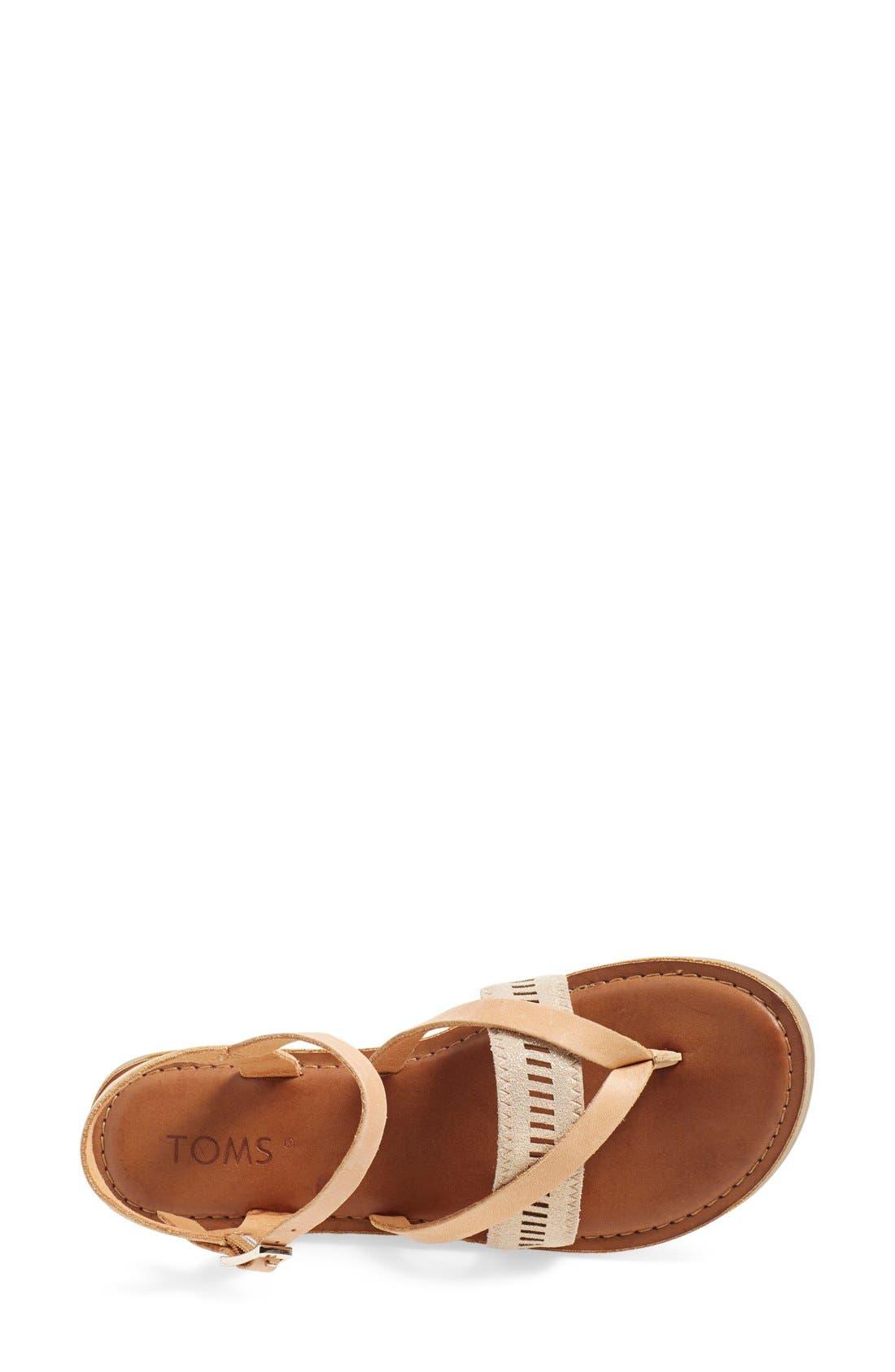 'Lexie' Sandal,                             Alternate thumbnail 3, color,                             Sandstorm Leather