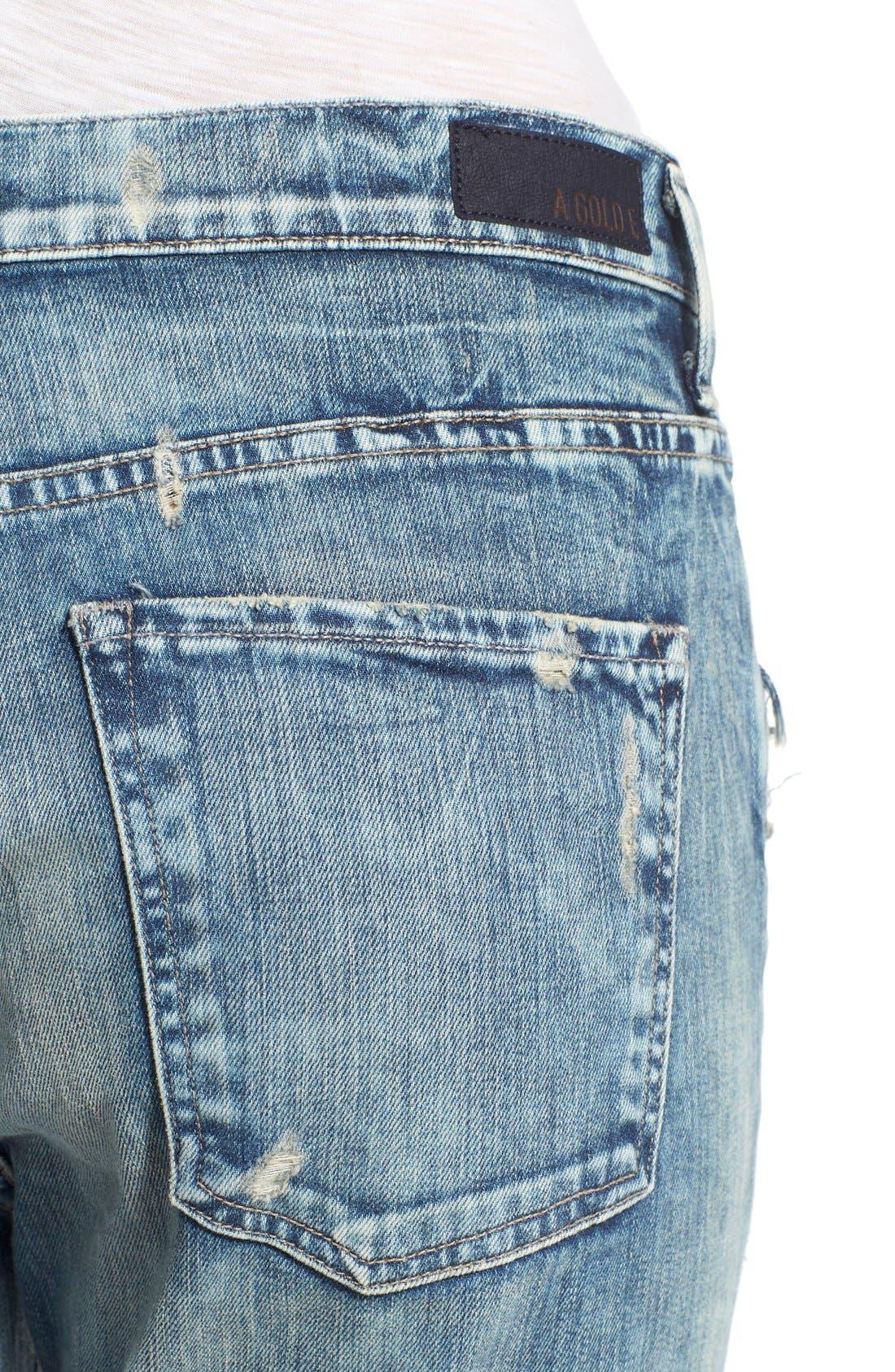 Alternate Image 4  - A Gold E 'Denise' Destroyed Boyfriend Jeans (Lisbon)