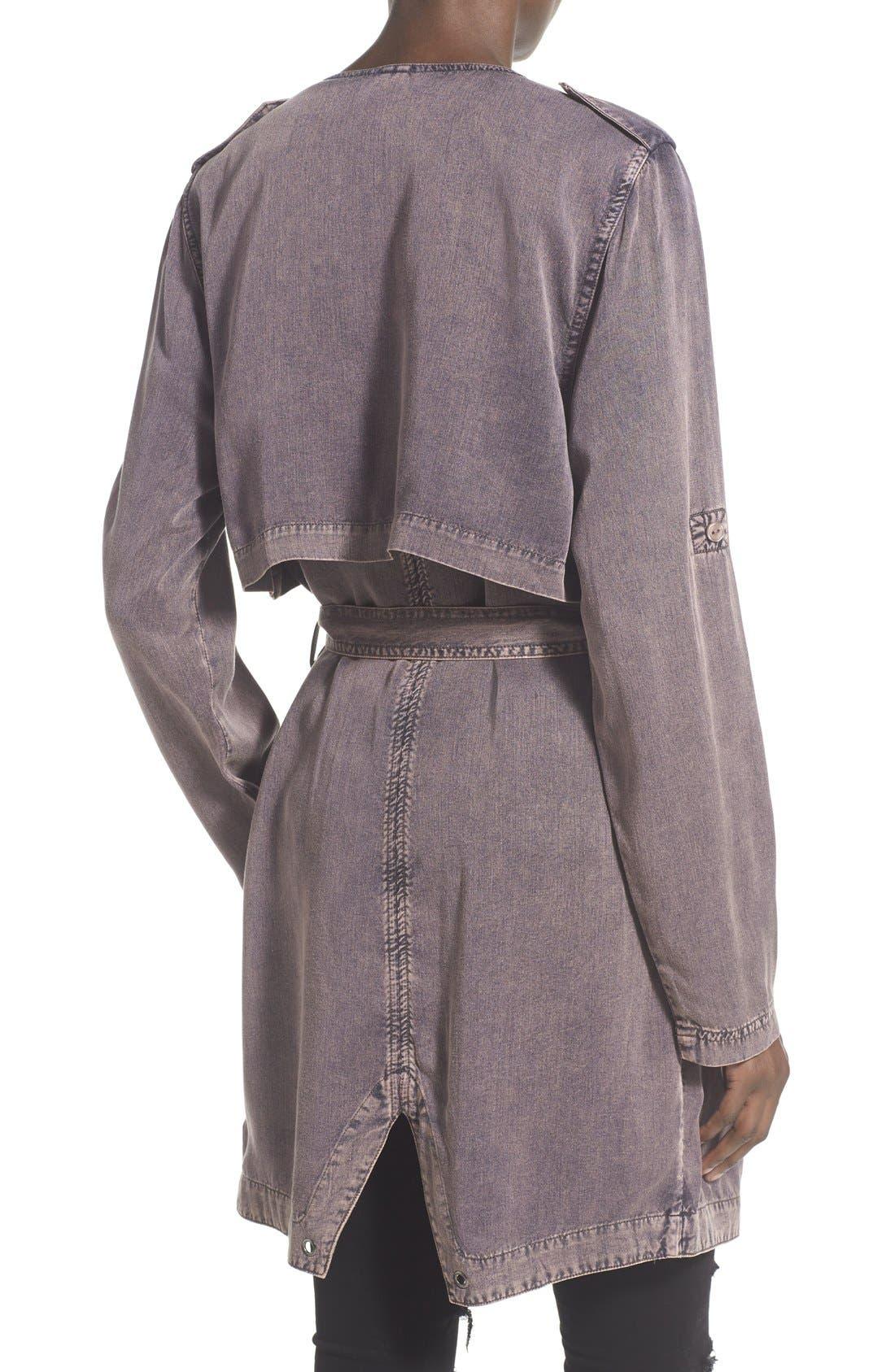 Alternate Image 2  - Lee Cooper Drapey Trench Coat
