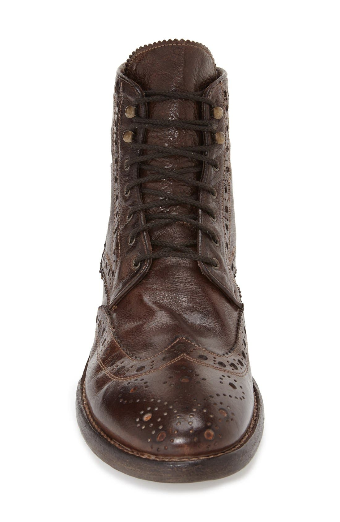 'Brennan' Boot,                             Alternate thumbnail 3, color,                             Chocolate Leather