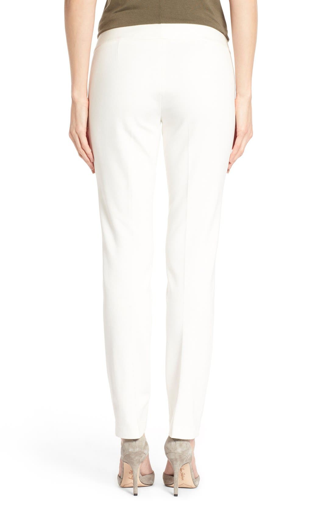 Ponte Ankle Pants,                             Alternate thumbnail 2, color,                             Vanilla