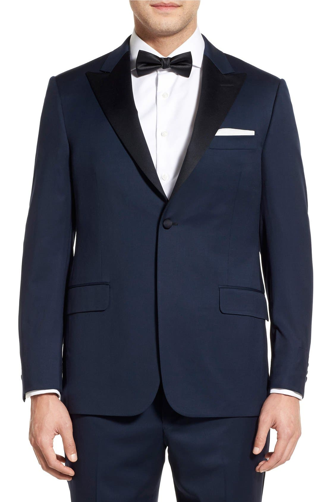 Alternate Image 5  - Hickey Freeman Classic B Fit Wool Tuxedo