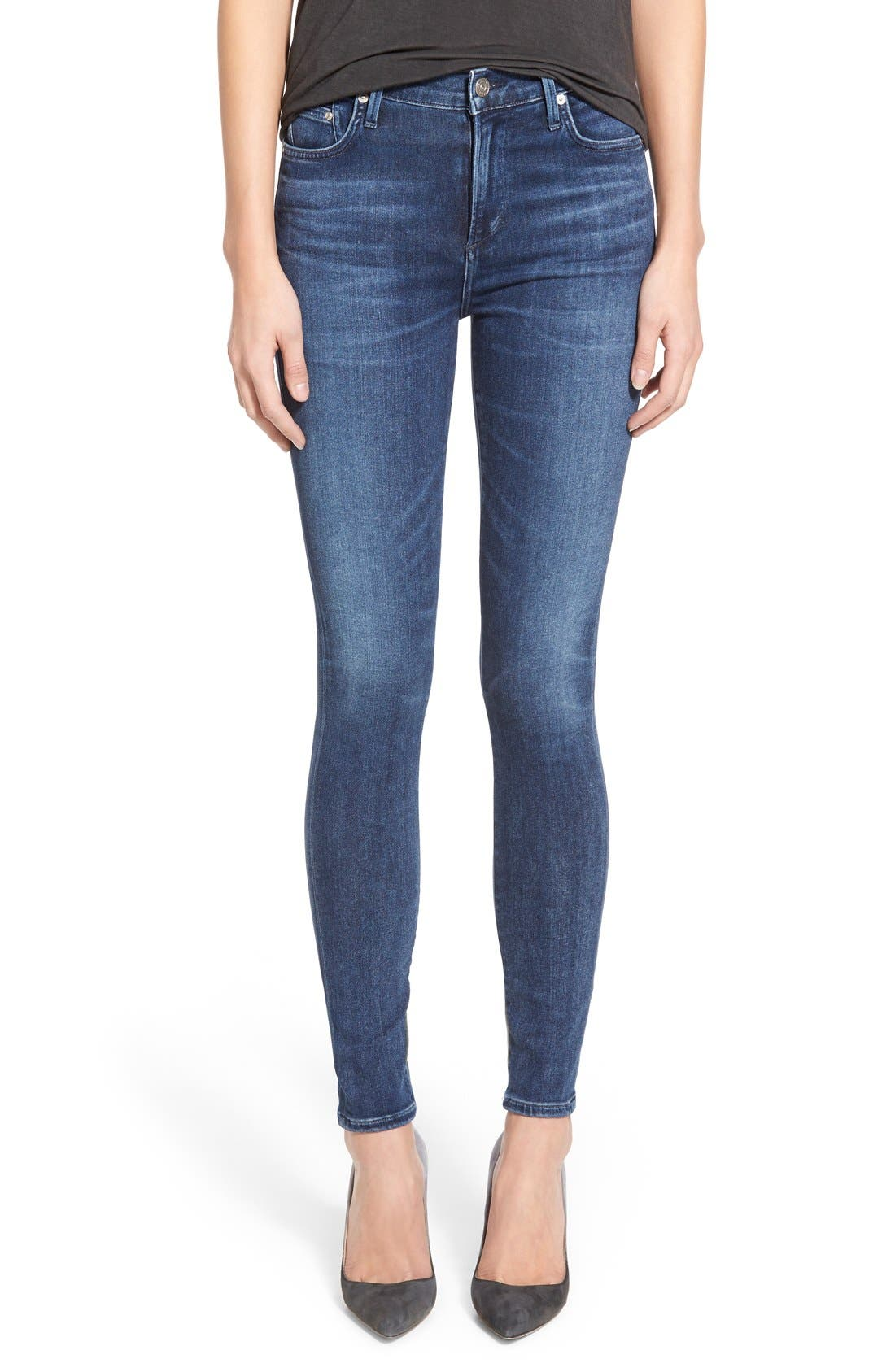 Sculpt - Rocket High Waist Skinny Jeans,                         Main,                         color, Waverly