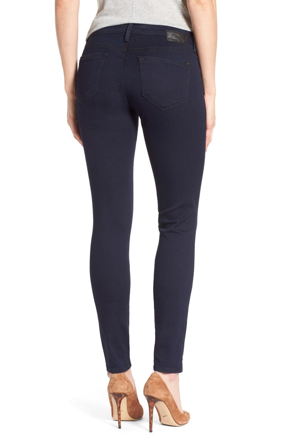 Alternate Image 2  - Mavi Jeans 'Serena' Stretch Skinny Jeans (Dark Shanti) (Regular & Petite)