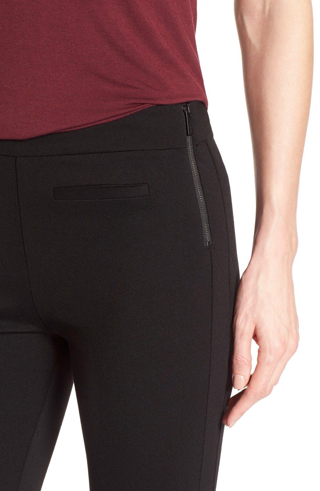 Alternate Image 4  - Sanctuary 'Tower' Side Zip Ponte Skinny Pants