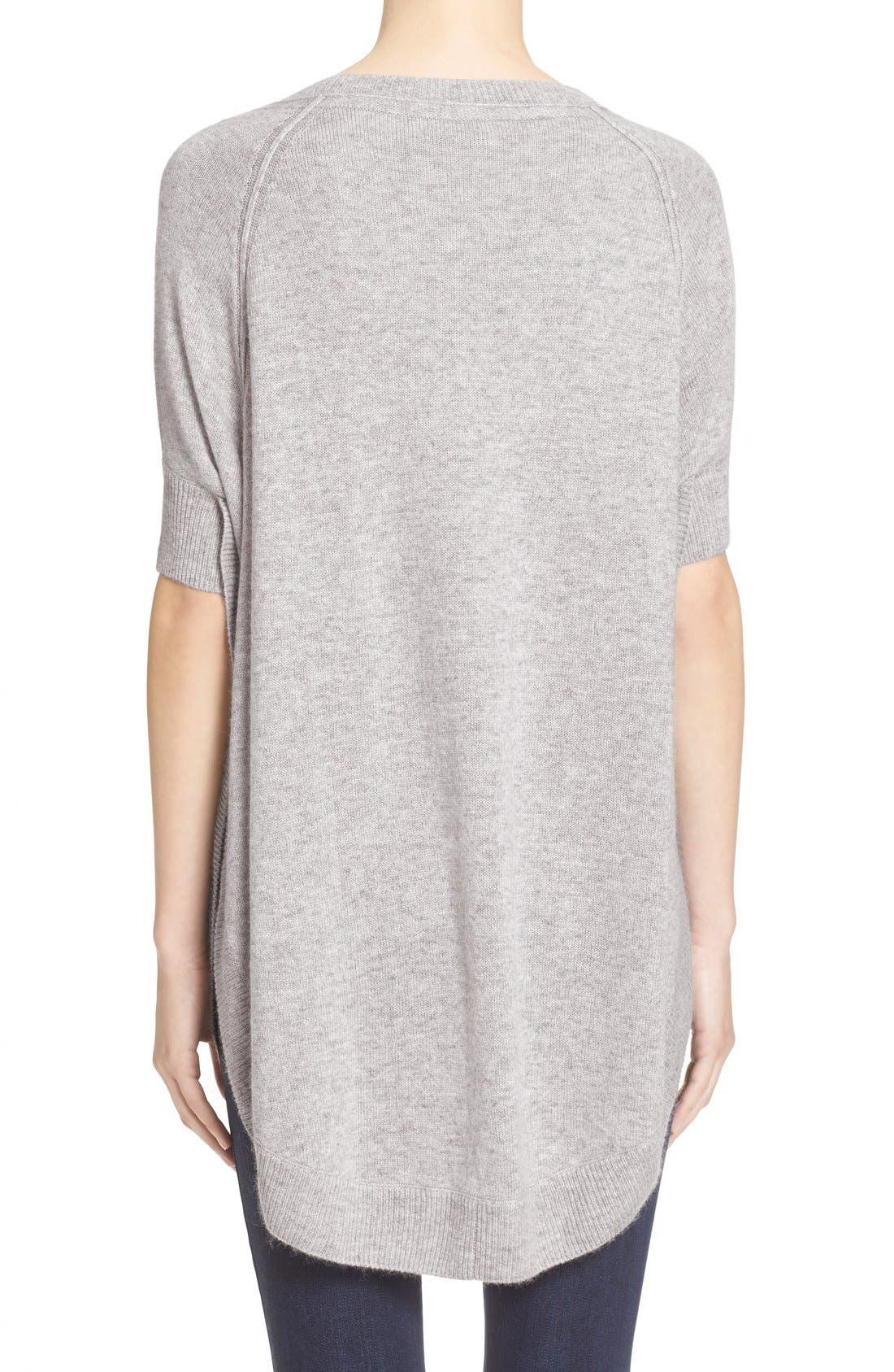 Alternate Image 2  - Alice + Olivia 'Parcell' Short Sleeve Wool Tunic