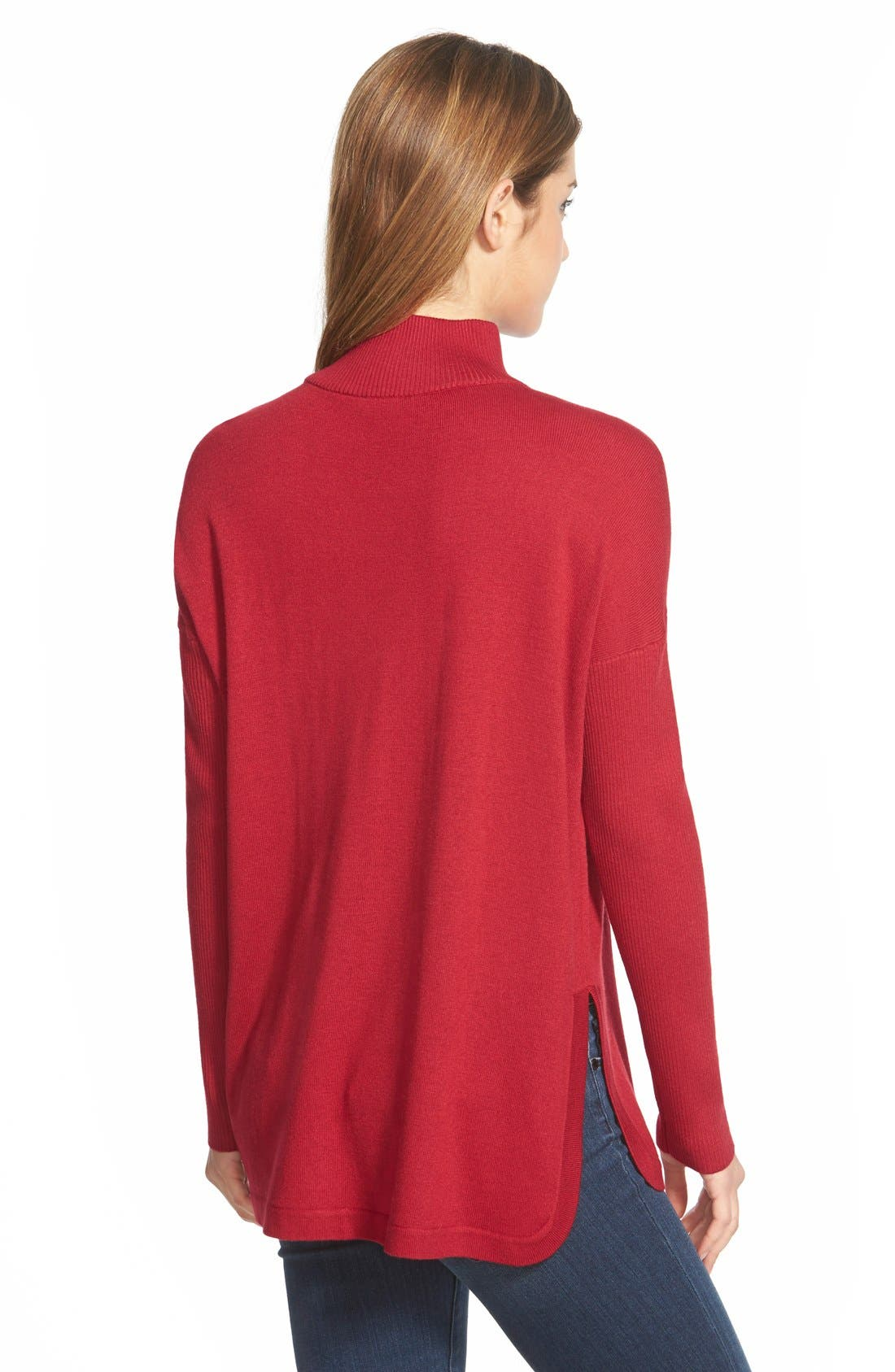Alternate Image 2  - Vince CamutoRibbed Sleeve Mock Neck Sweater (Regular & Petite)