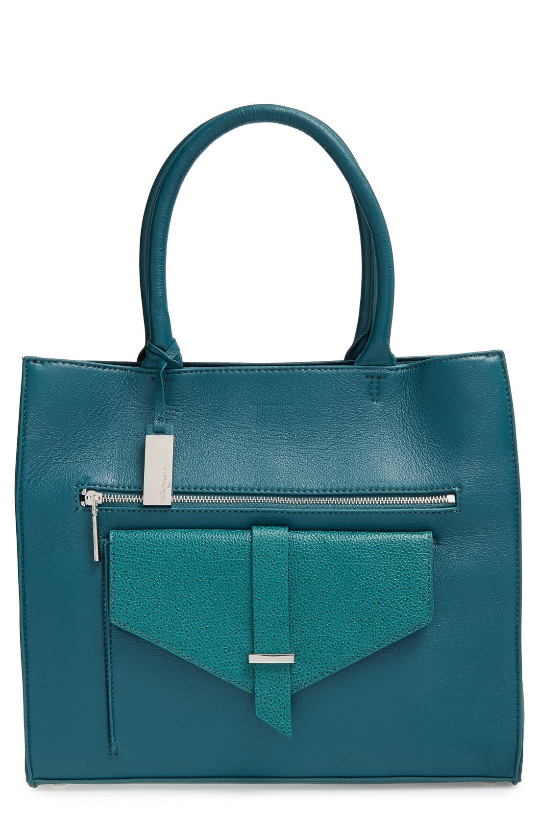 Alternate Image 1 Selected - Halogen® 'Belltown' Leather Tote