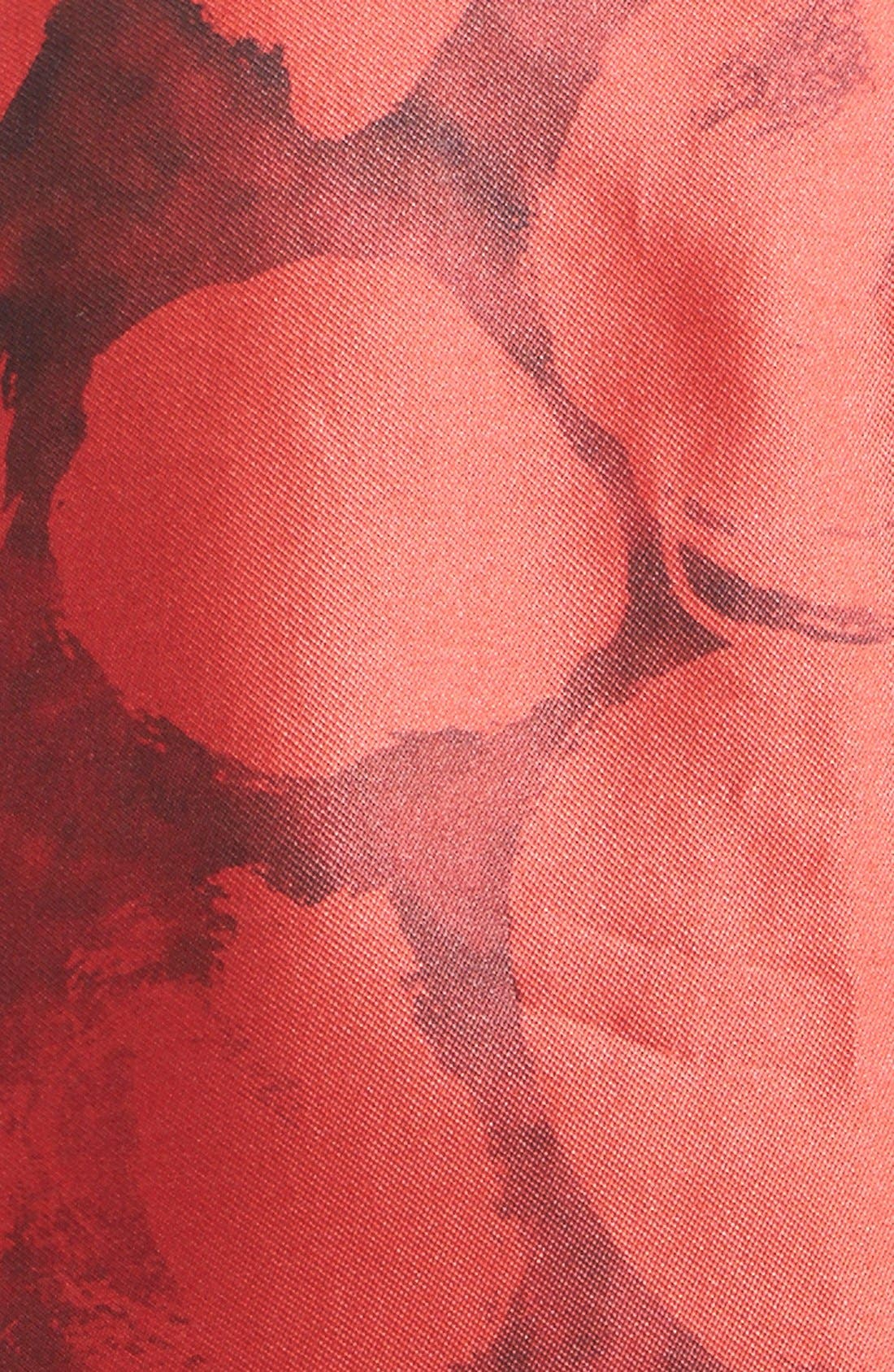 Alternate Image 3  - Oscar de la Renta Dot Print Silk & Cotton Dress