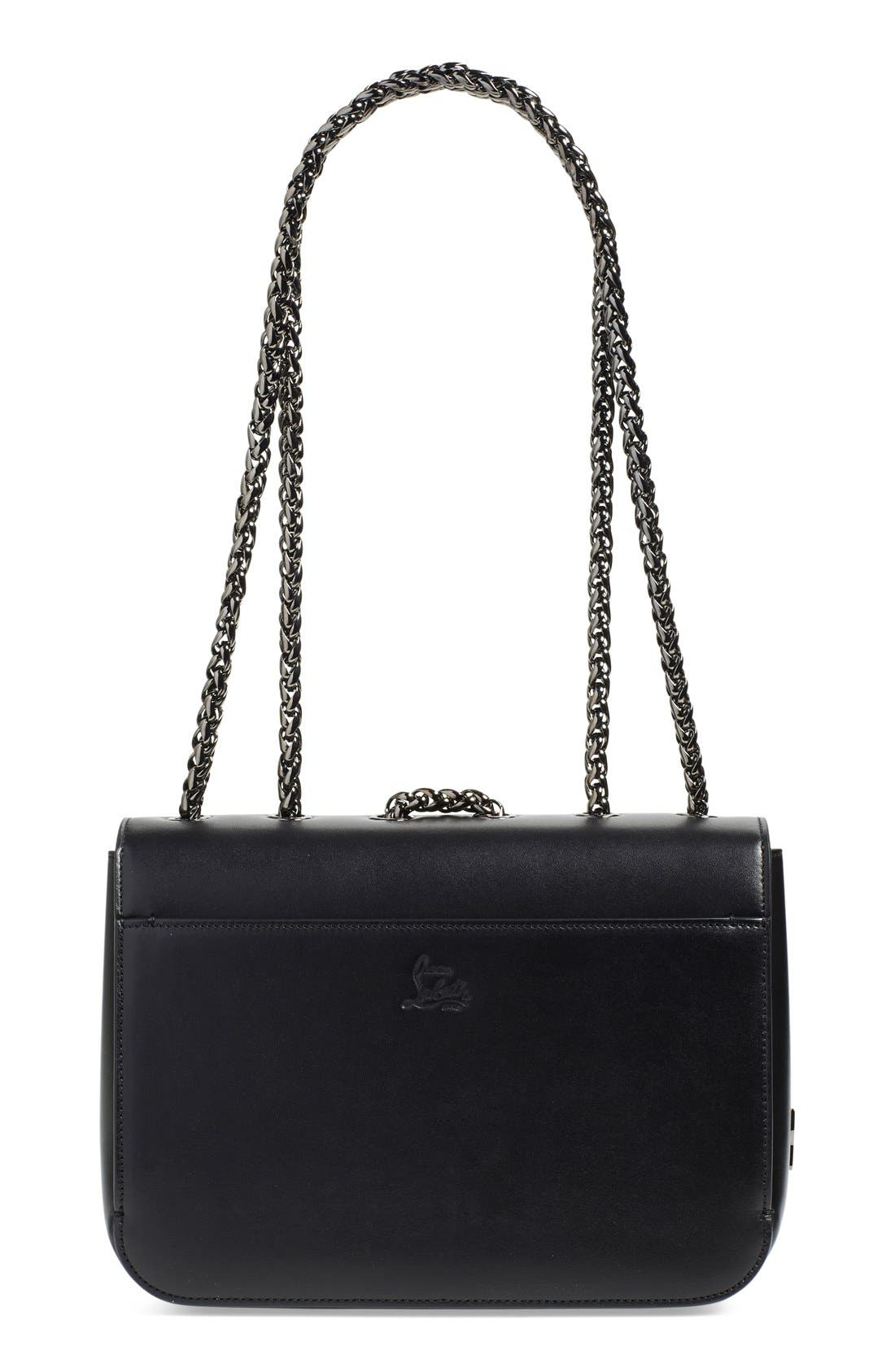 Alternate Image 2  - Christian Louboutin 'Small Sweet Charity' Spiked Bow Flap Shoulder Bag