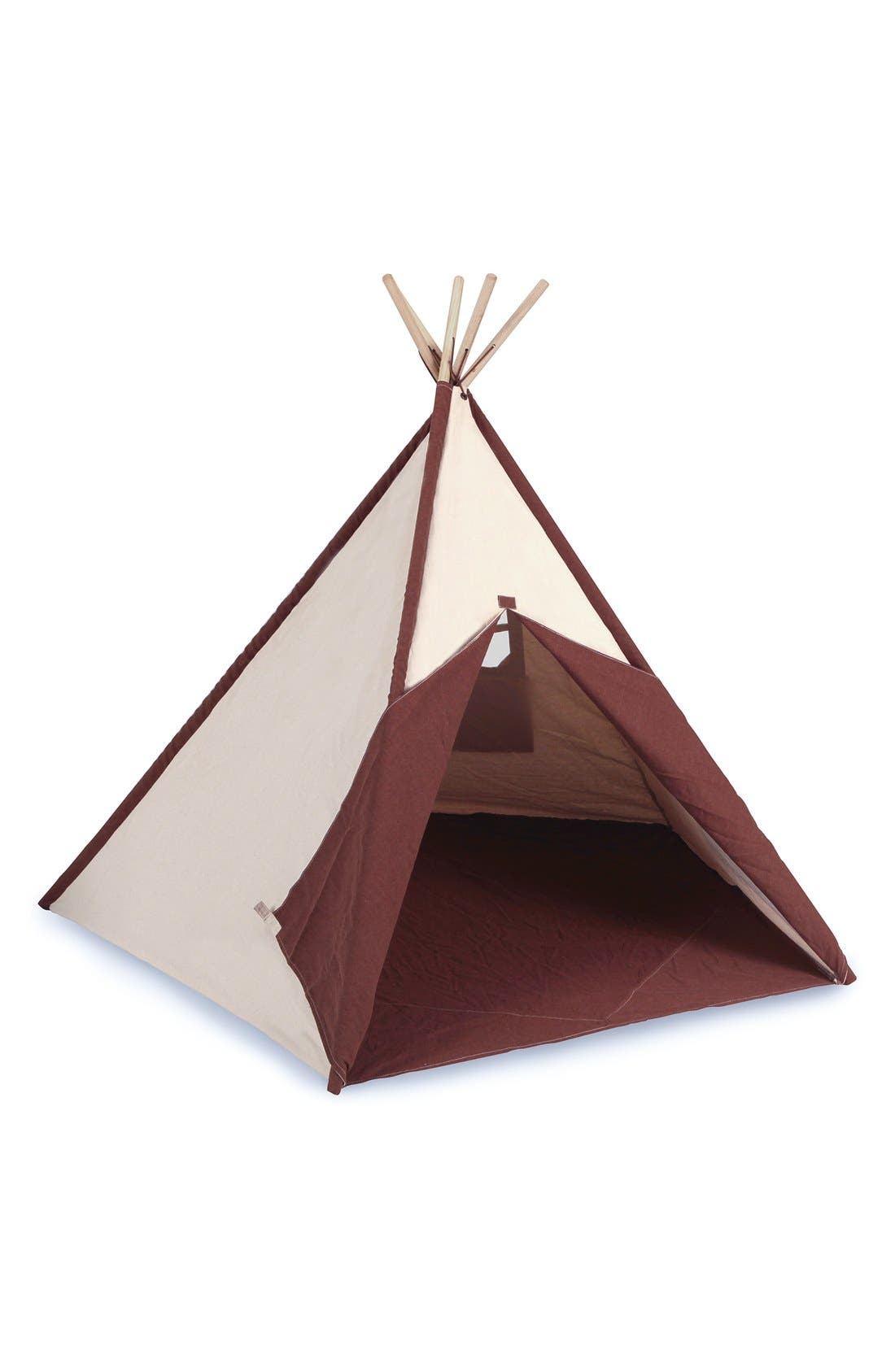 Cotton Canvas Teepee,                         Main,                         color, Beige/ Brown