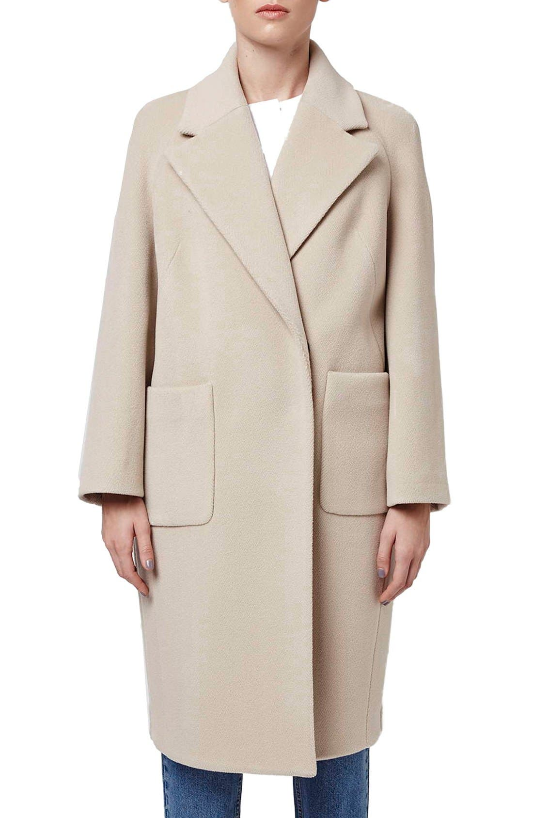 Alternate Image 1 Selected - Topshop Boutique Longline Wool Coat