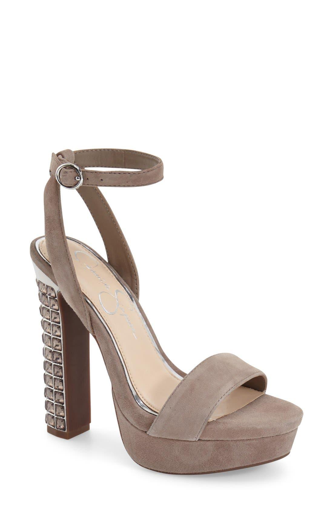 Alternate Image 1 Selected - Jessica Simpson 'Banda' Embellished Platform Sandal (Women)