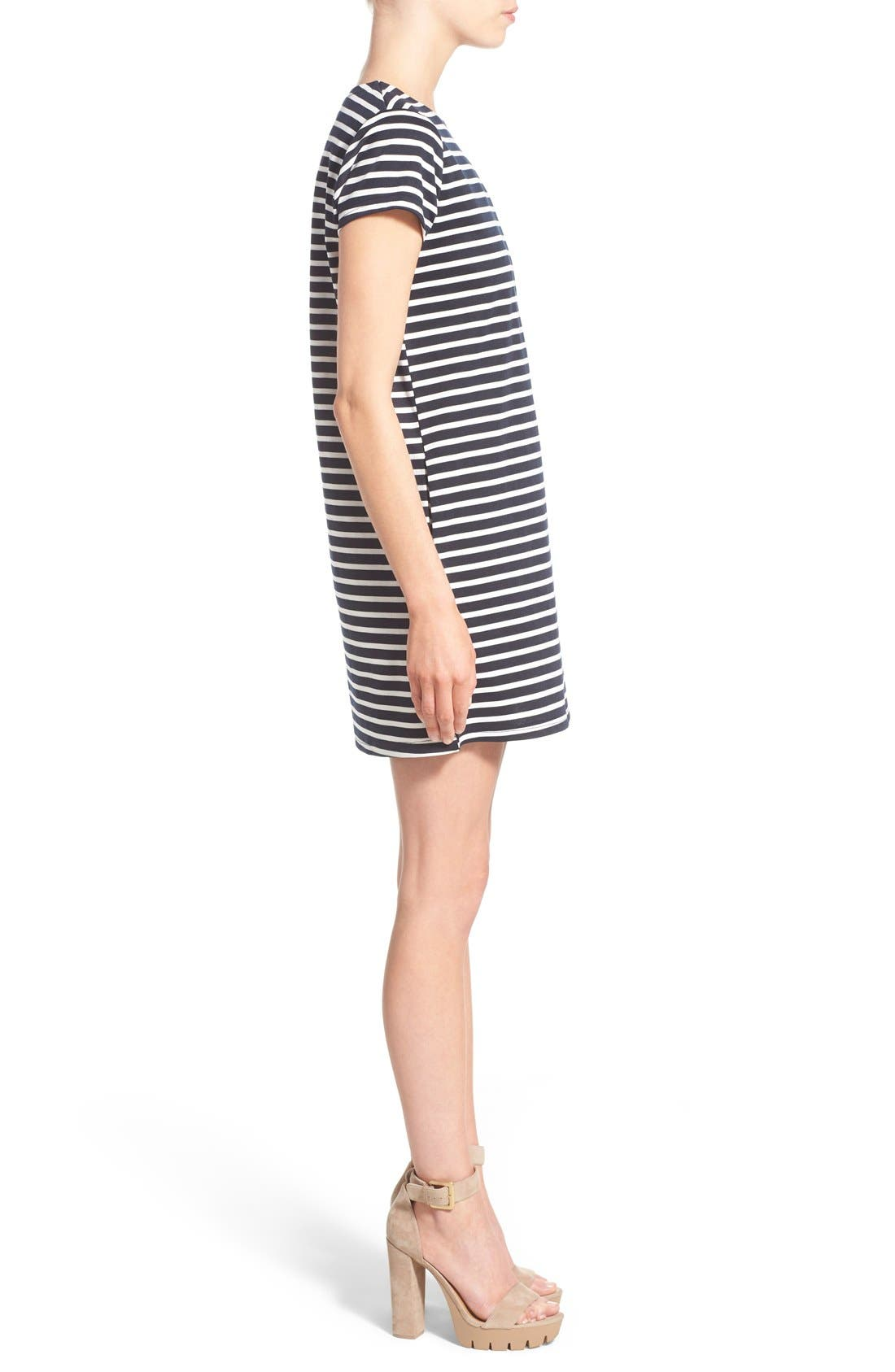 Alternate Image 3  - Missguided Stripe Short Sleeve Shift Dress