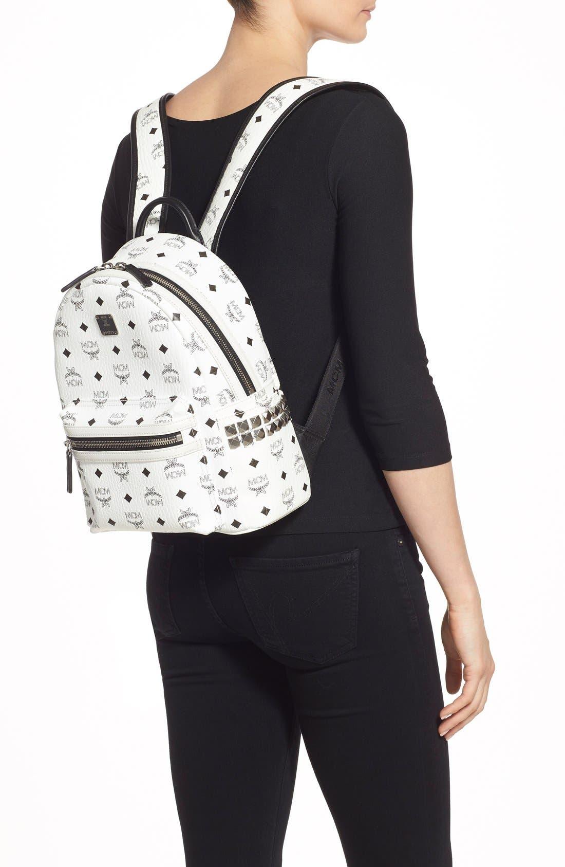 Small Stark Side Stud Backpack,                             Alternate thumbnail 2, color,                             White