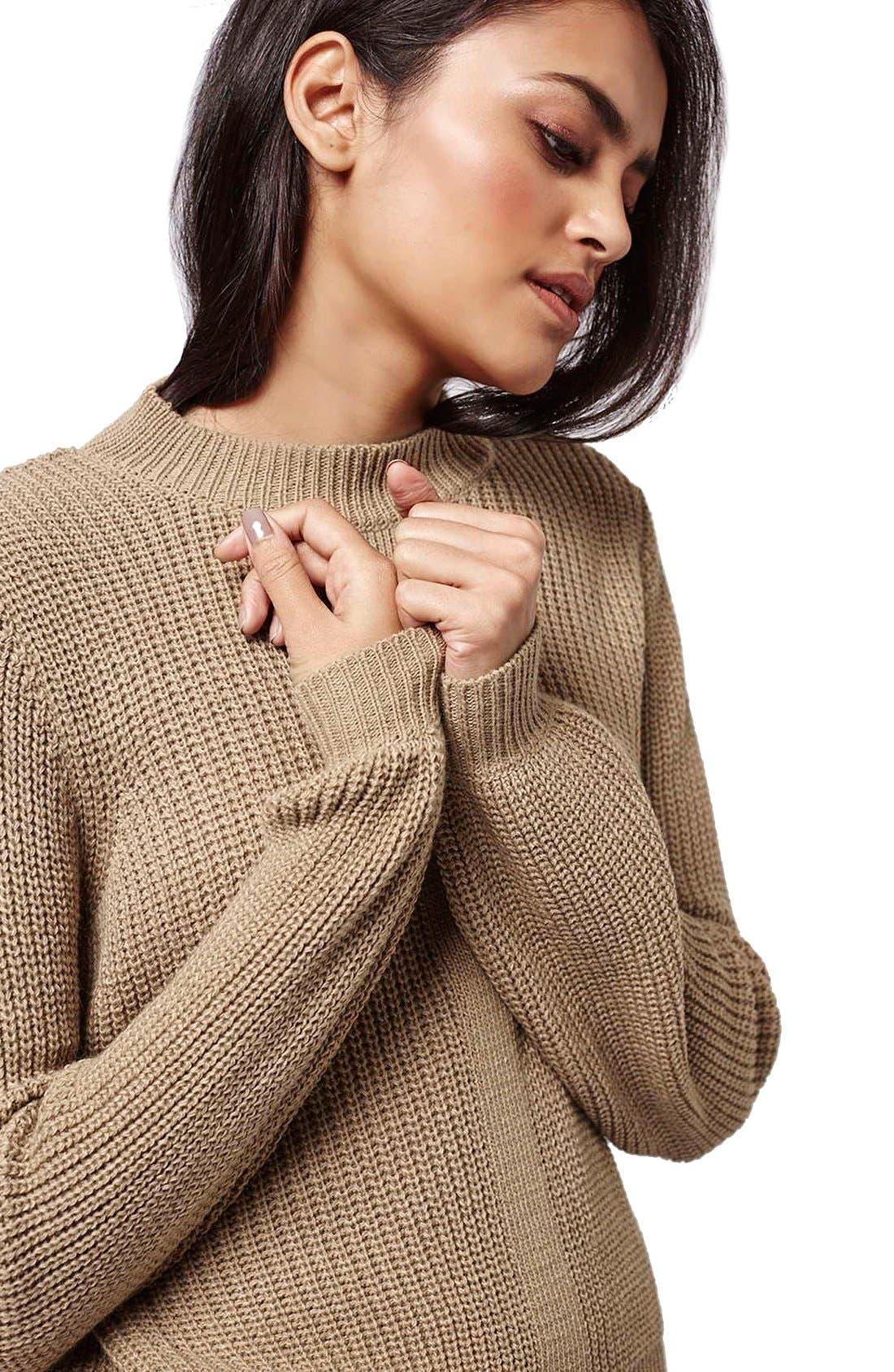 Alternate Image 5  - Topshop Mock Neck Pullover Sweater