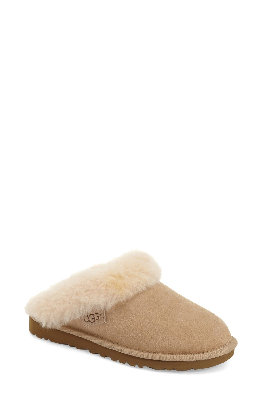 Alternate Image 1 Selected - UGG® 'Cluggette' Genuine Shearling Indoor/Outdoor Slipper (Women)