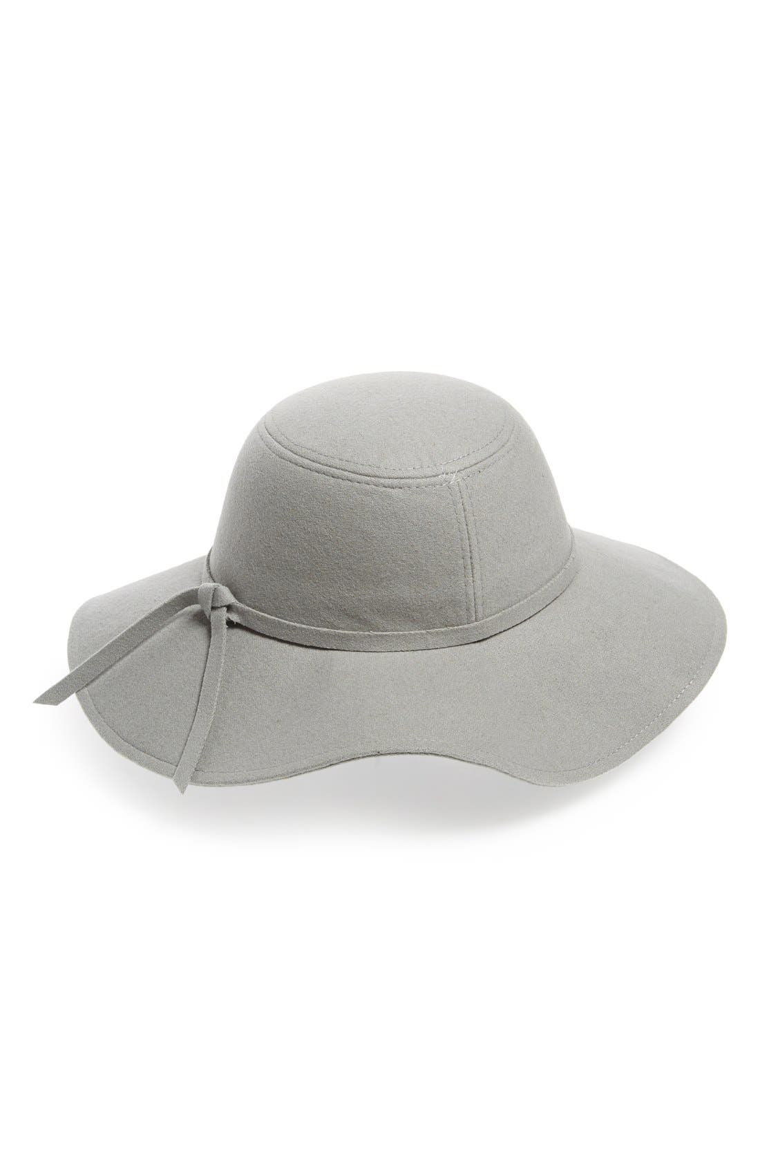 Floppy Felt Hat,                             Alternate thumbnail 2, color,                             Grey Opal
