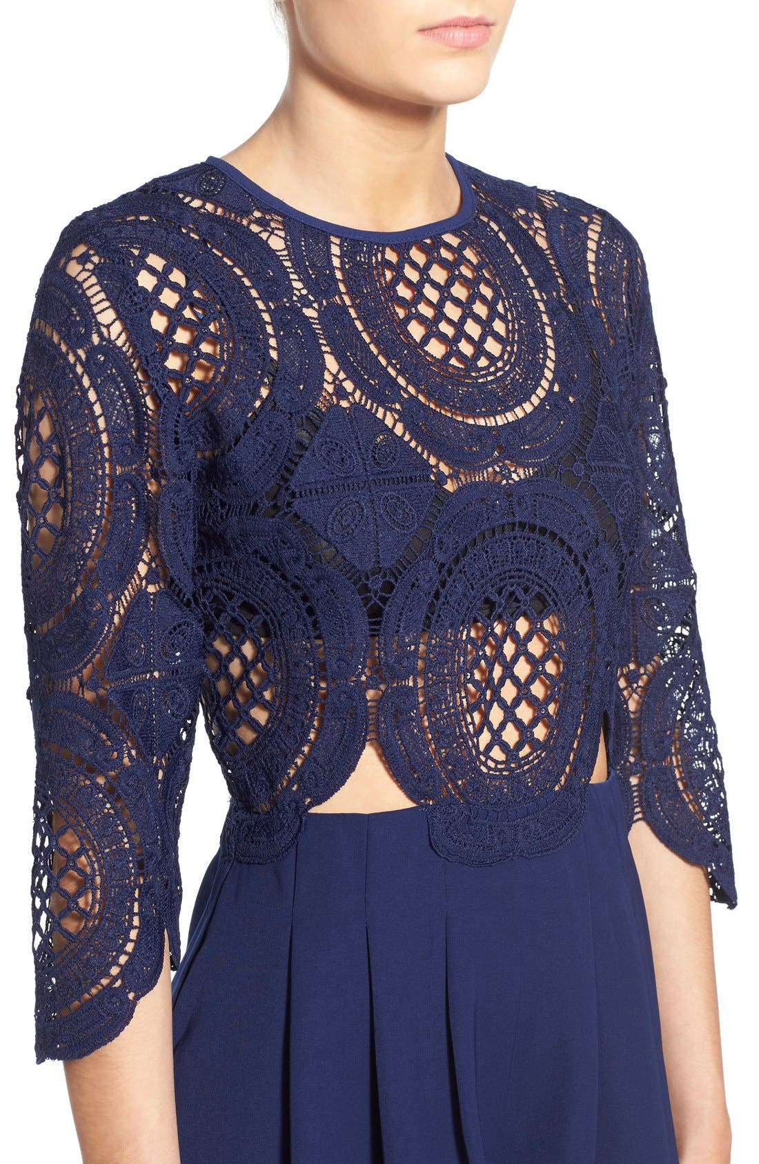 Alternate Image 4  - Missguided Crochet Lace Romper