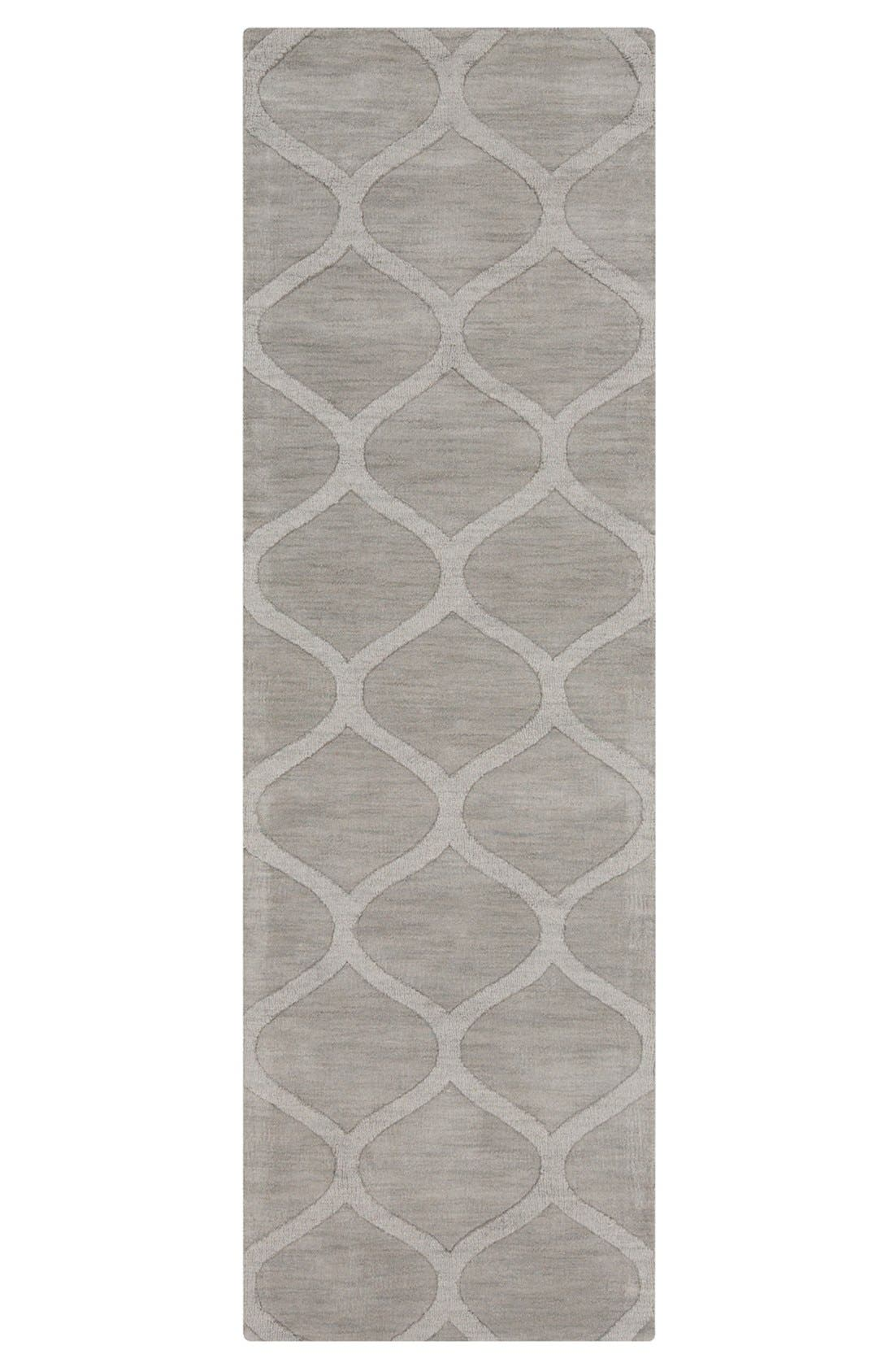 'Mystique' Hand Loomed Wool Rug,                             Alternate thumbnail 2, color,                             Grey