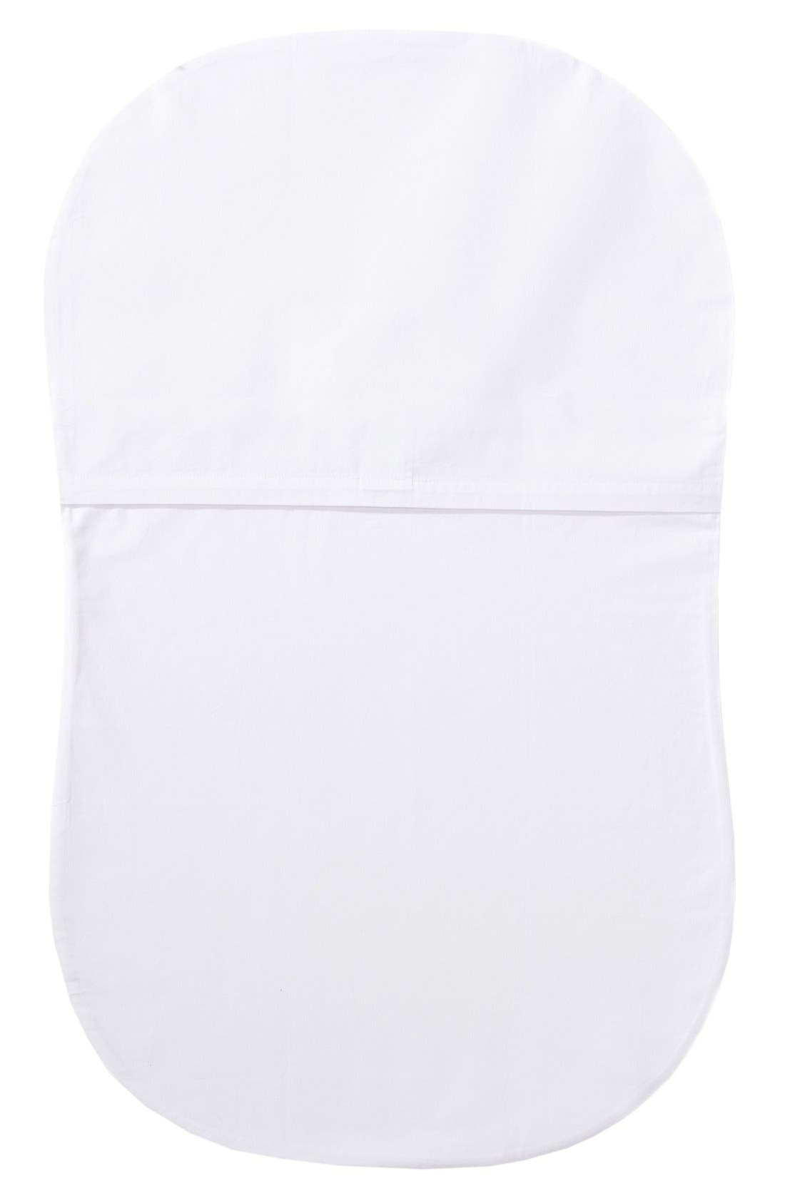 Organic Cotton Fitted Sheet for Halo<sup>®</sup> Bassinest<sup>™</sup> Swivel Sleeper,                             Alternate thumbnail 2, color,                             White