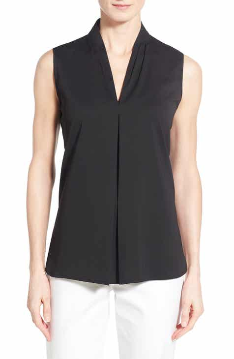 Ming Wang V-Neck Sleeveless Top