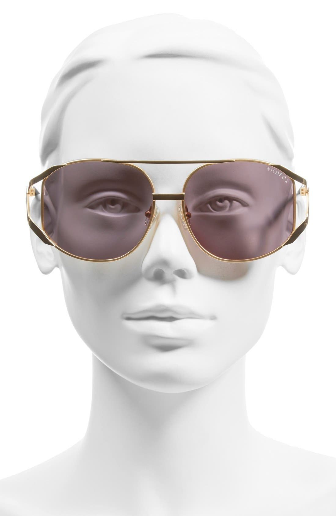 Alternate Image 2  - Wildfox 'Dynasty Deluxe' 59mm Retro Sunglasses