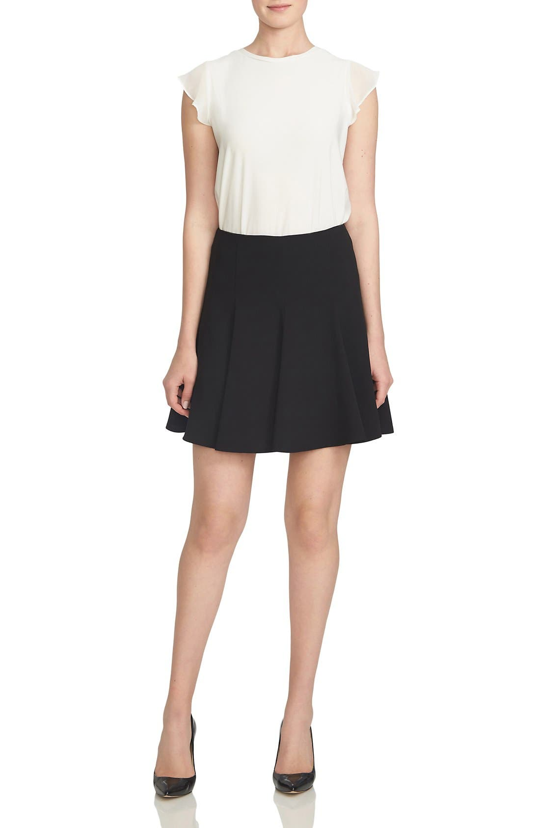 Alternate Image 2  - CeCe Crepe Flounce Skirt
