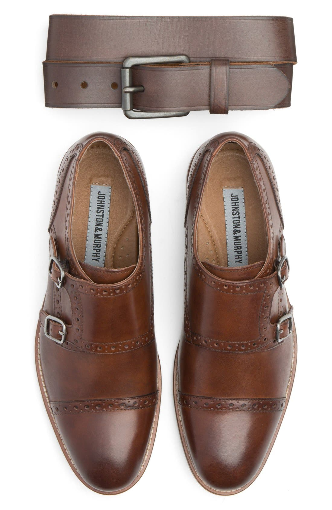 Johnston & Murphy Belt & Slip-On