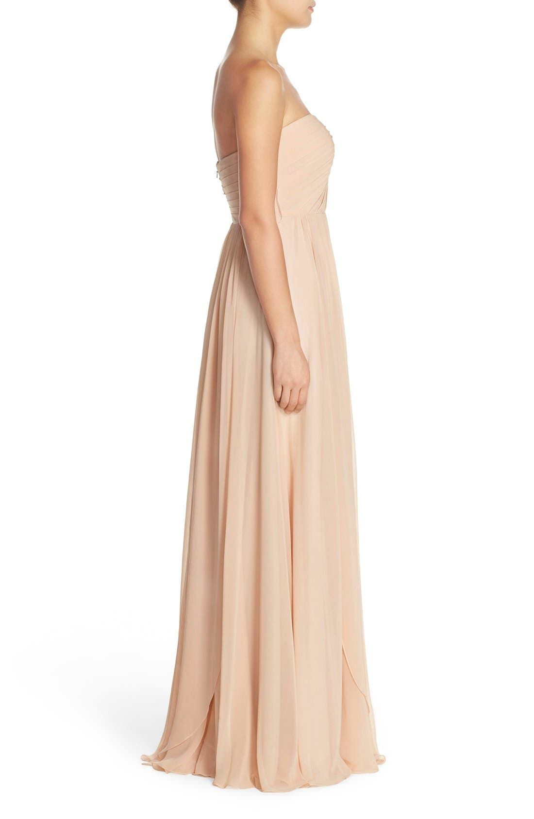Alternate Image 4  - Jenny Yoo Mira Convertible Strapless Chiffon Gown
