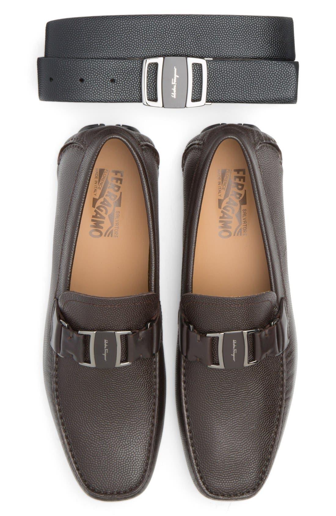 Alternate Image 4  - Salvatore Ferragamo Reversible Leather Belt