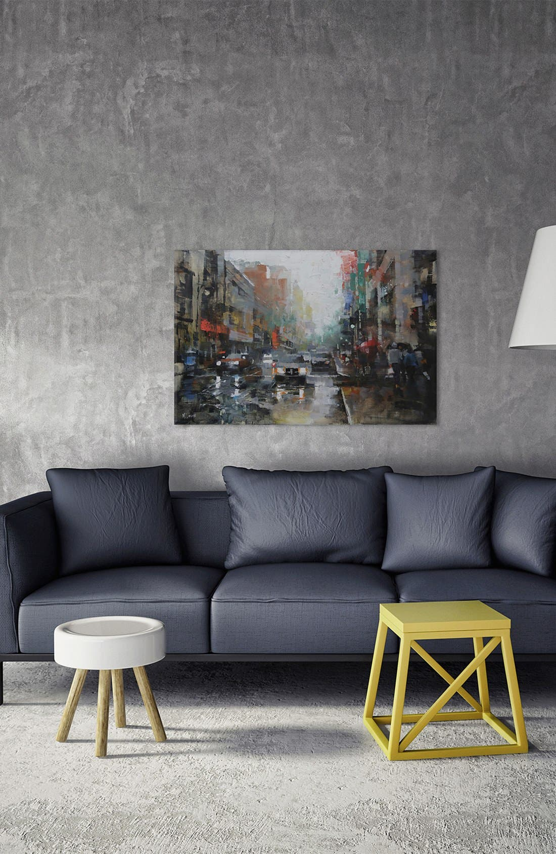 Alternate Image 2  - iCanvas 'Montreal Rain' Giclée Print Canvas Art