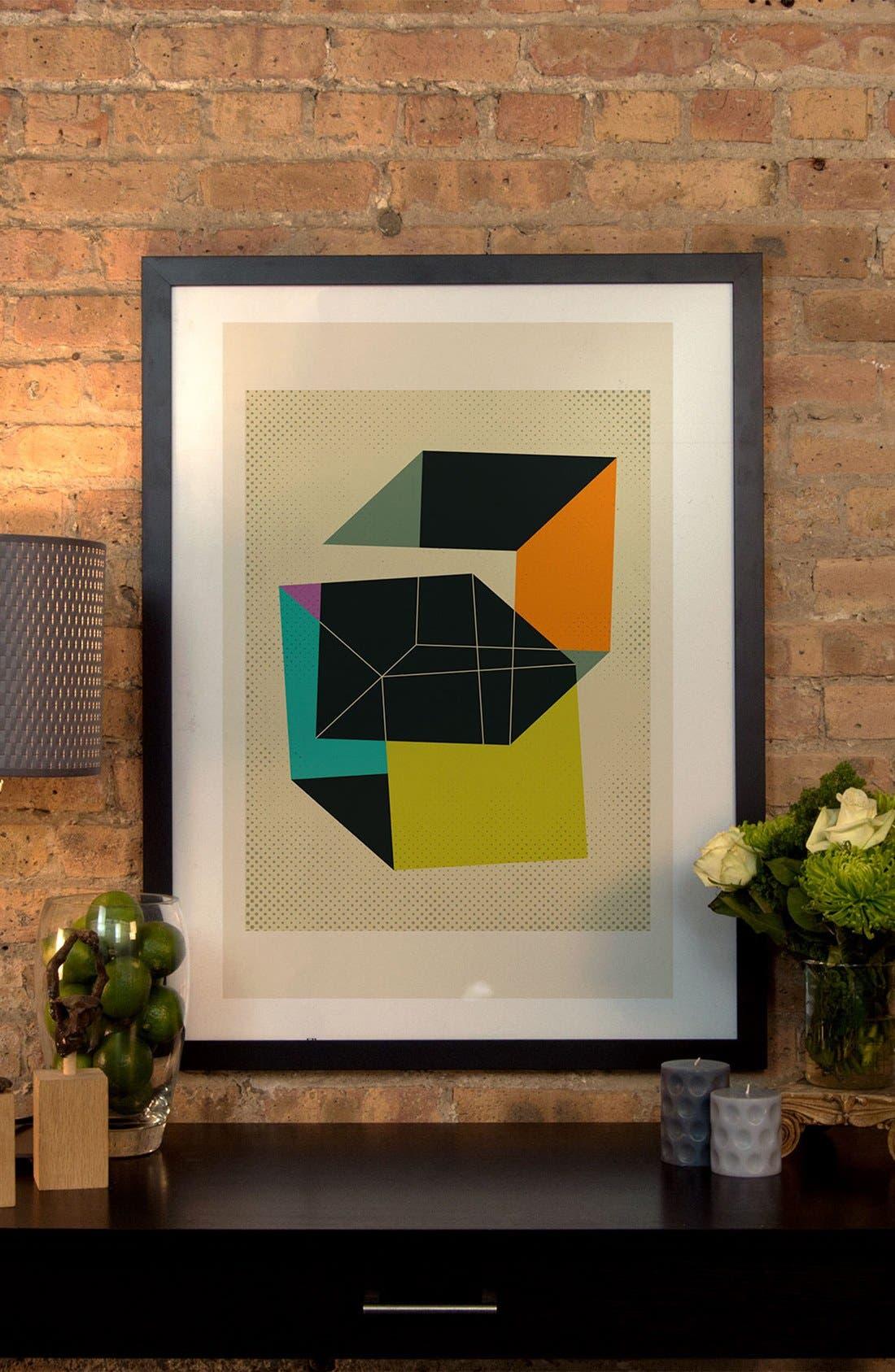 'Cubes V' Framed Fine Art Print,                             Alternate thumbnail 2, color,                             Black