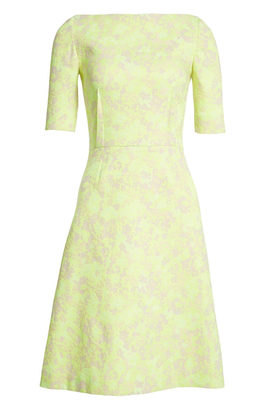 Alternate Image 4  - Lela Rose Floral Jacquard Sheath Dress