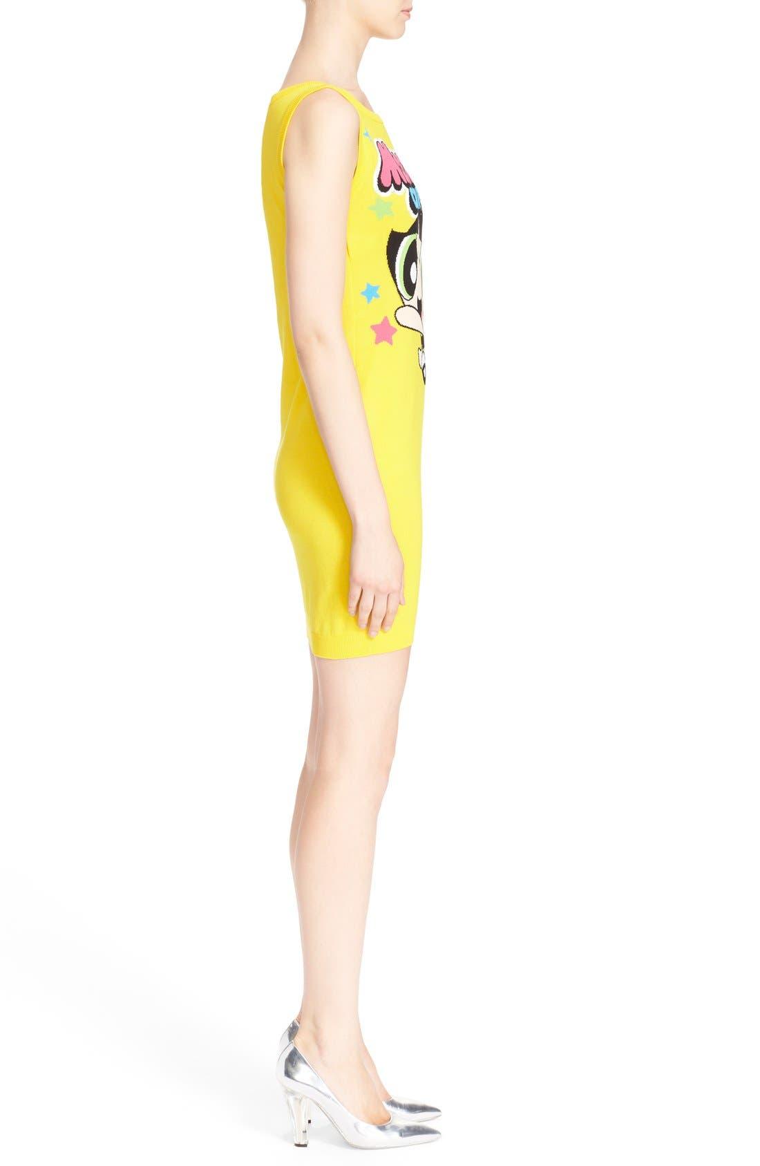 Alternate Image 4  - Moschino 'The Powerpuff Girls® - Buttercup' Intarsia Knit Dress