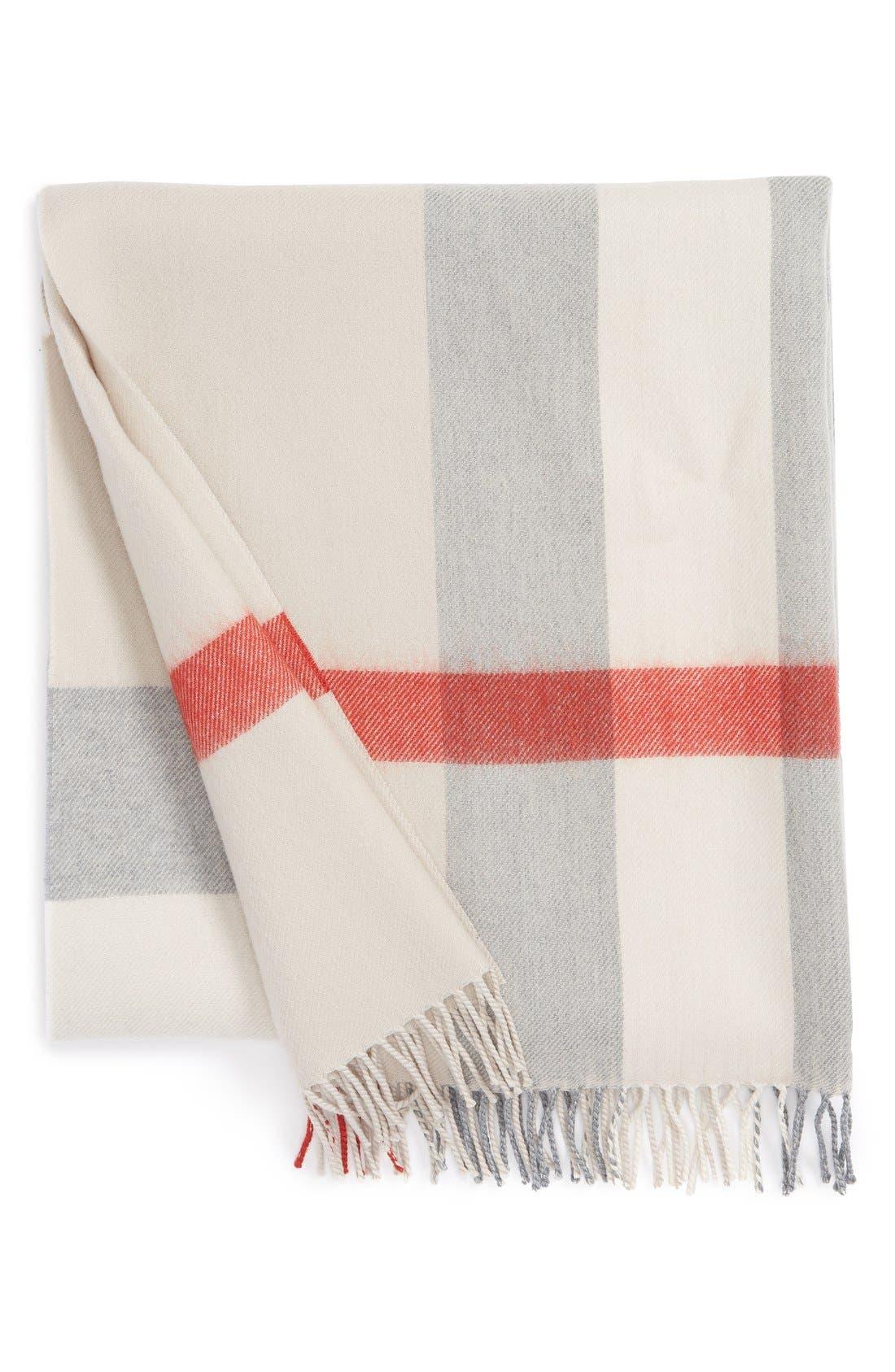 Main Image - Burberry Merino Wool Baby Blanket