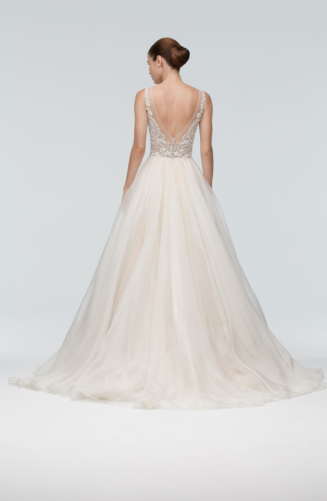 Alternate Image 2  - Watters Janet Embellished Tulle & Organza A-Line Gown